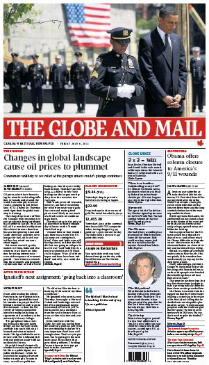 The Globe and Mail Cover