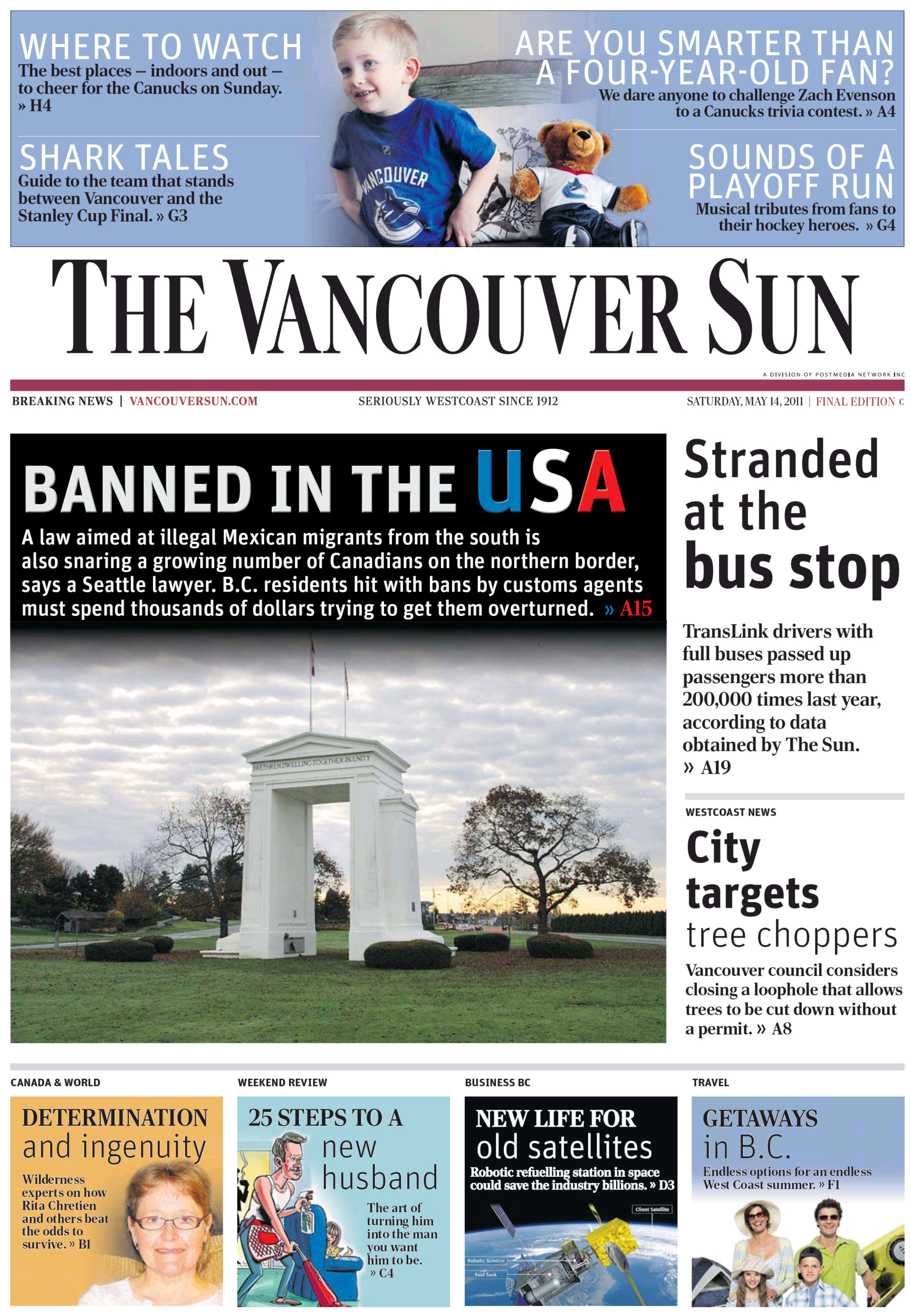 The Province Digital - The Vancouver Sun - 14 May 2011 - Page #1